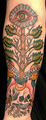 Jeff Zuck Name Brand Tattoo Ann Arbor MI