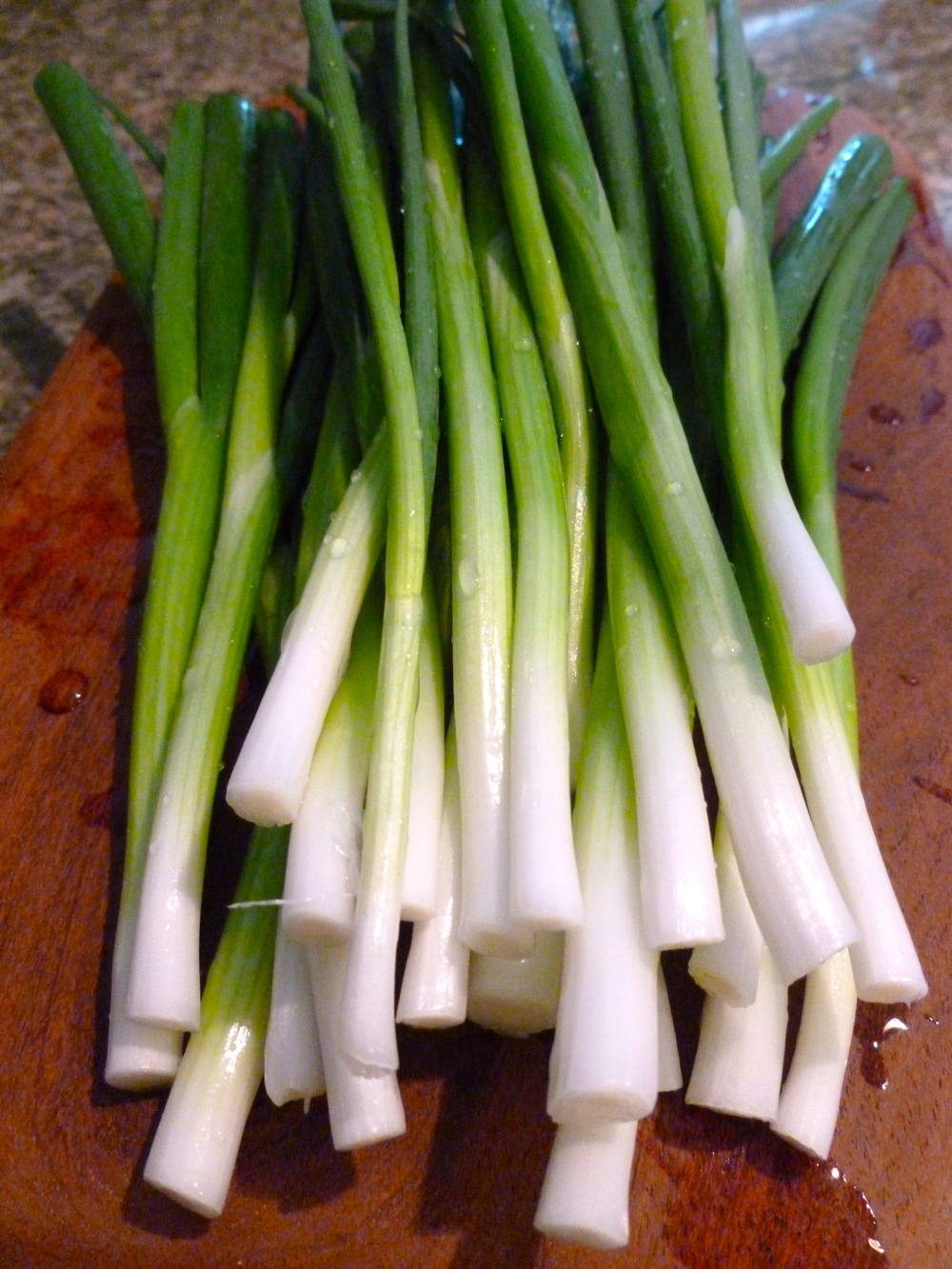 Scallions ready for the grill!