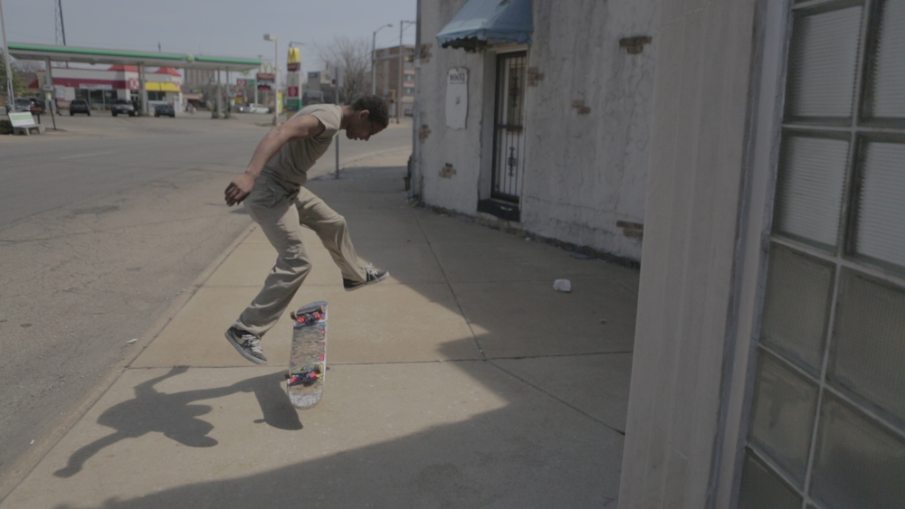 He's still got it! He can only skate switch because of his bad ankle, but he still kills it even when skating to the store.