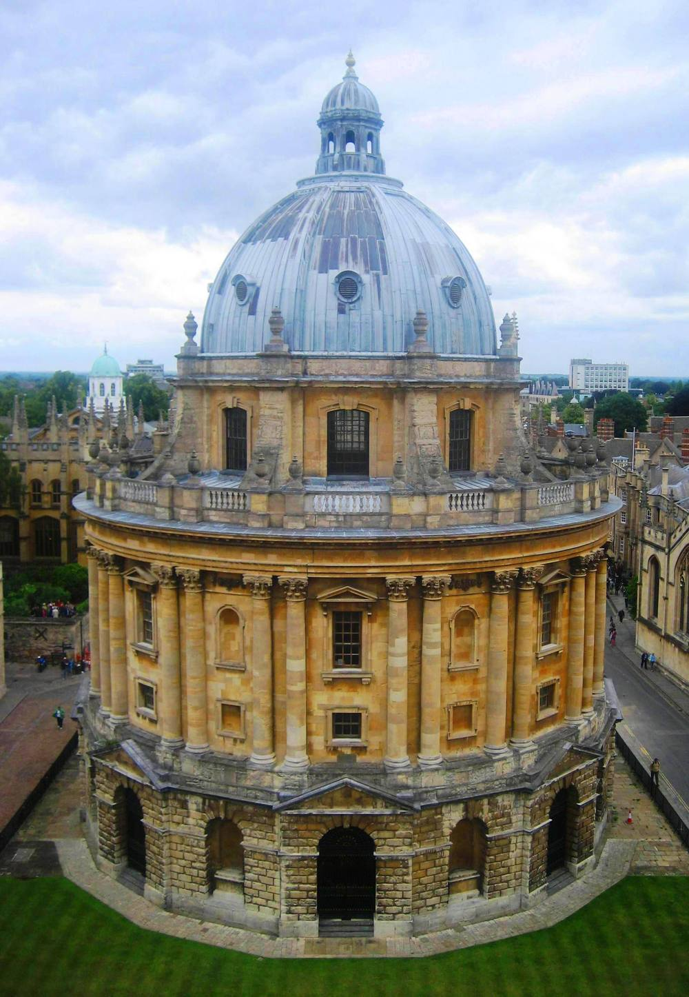 View of the Radcliffe Camera from the University Church Tower