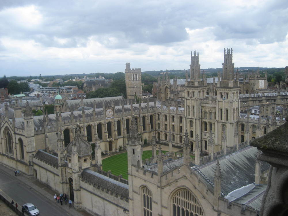 View of All Souls College from the University Church Tower