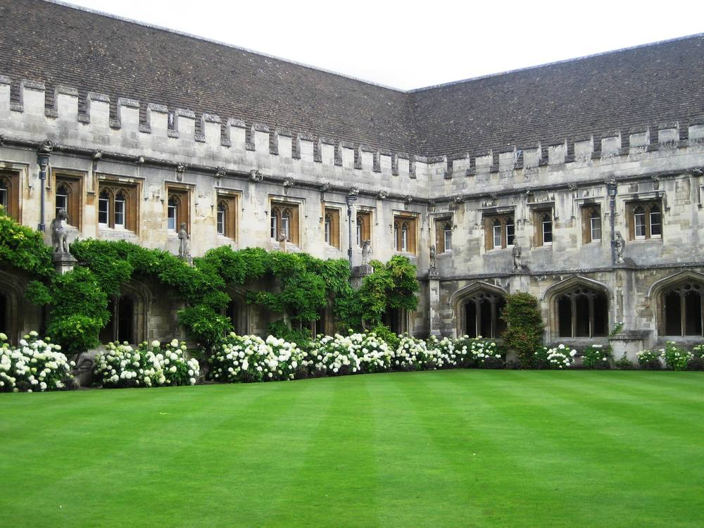 Magdalen College cloisters