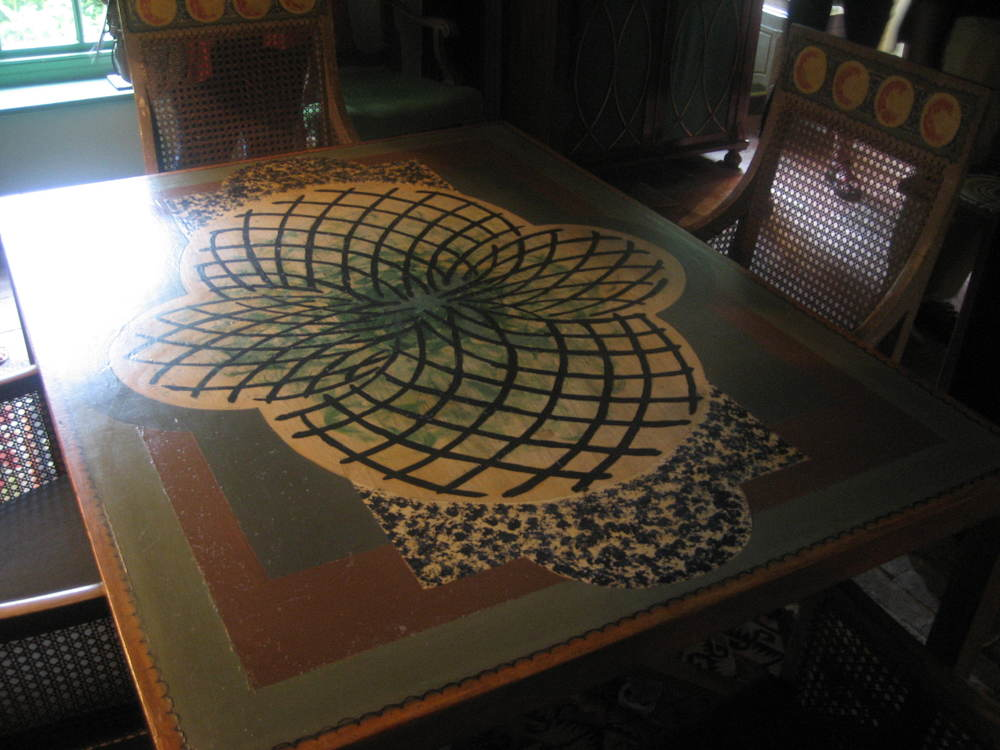 Table painted by Vanessa Bell