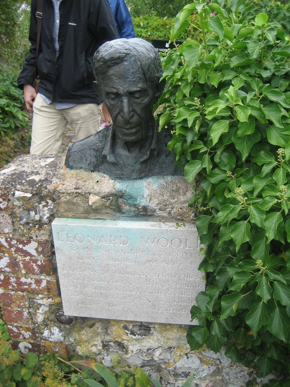 Leonard Woolf in the garden