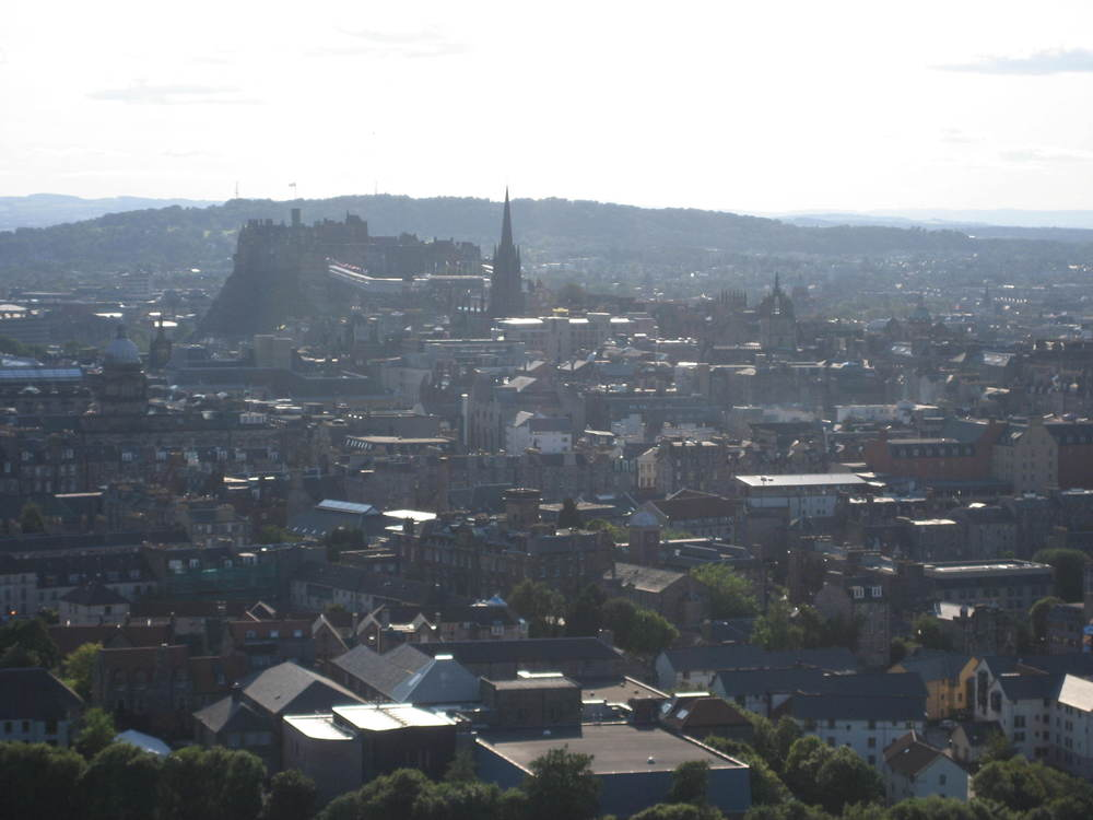 Looking from Arthur's Seat towards the Castle