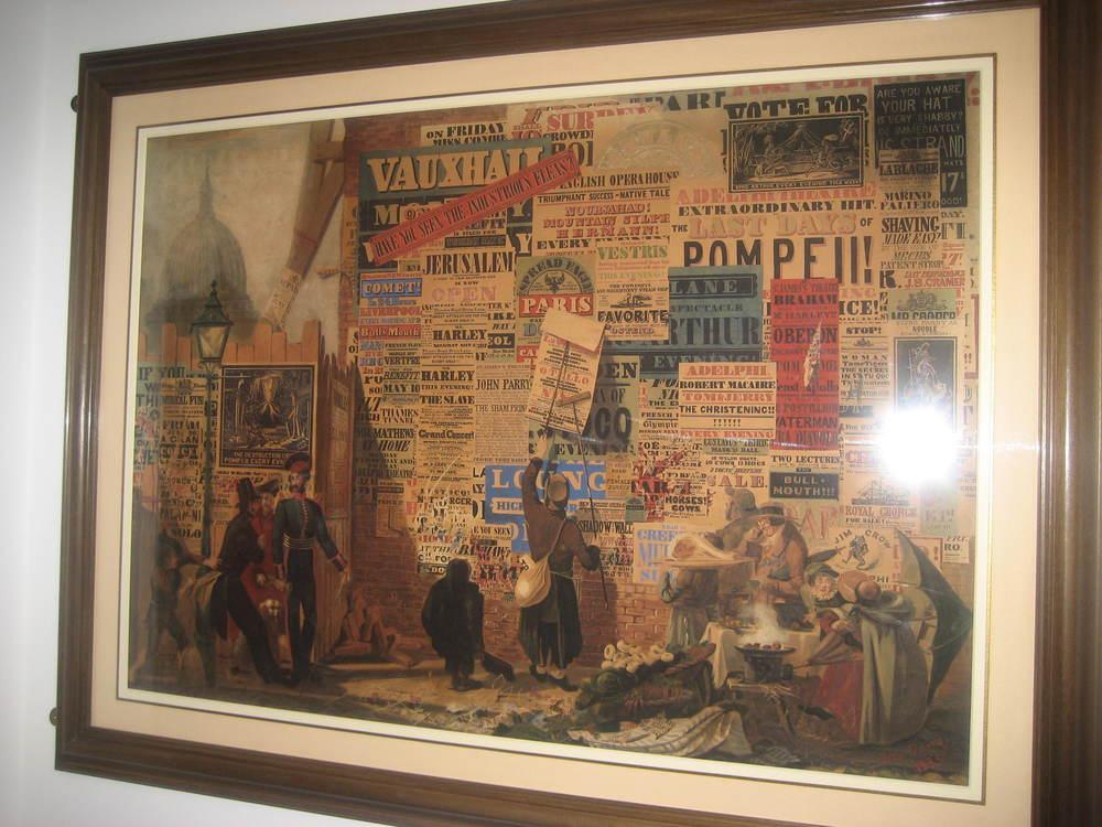 John Orlando Parry's 1837  A London Street Scene .