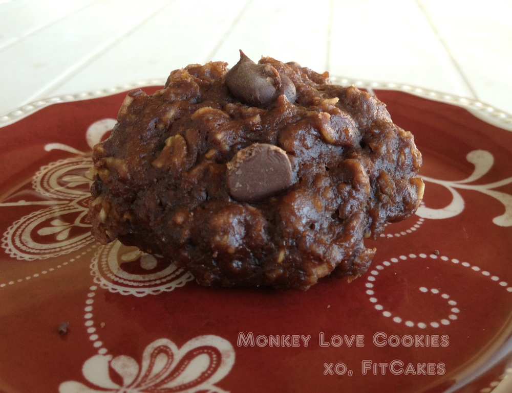 Chocolate Peanut Butter Banana Cookie Recipe   - FitCakery.com