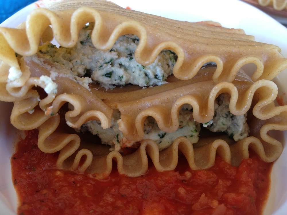 Double decker stuffed lasagna noodle!!