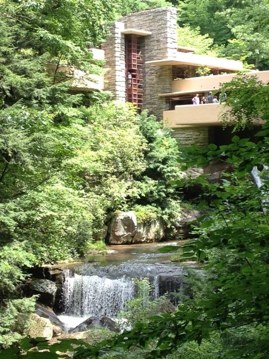 On my trip to see Fallingwater, an amazing feat of architectural genius by Frank Lloyd Wright, we climbed lots of stairs and hiked around the beautiful property!