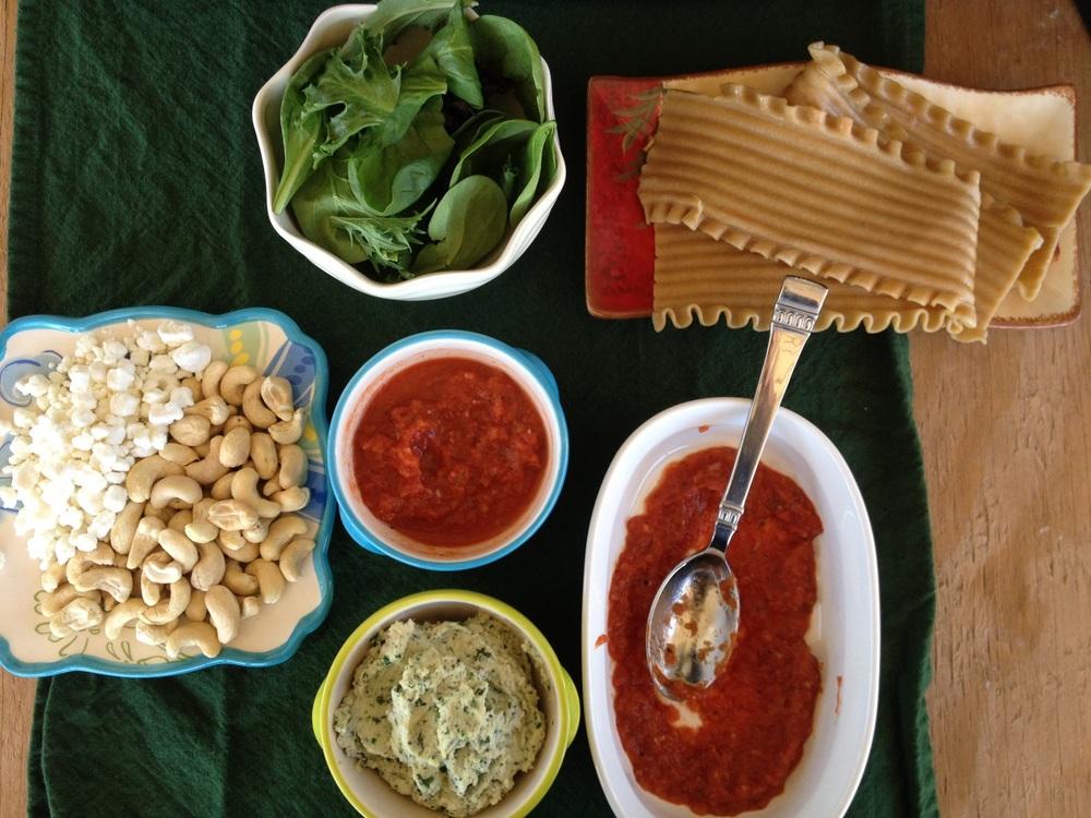 Cashew-Ricotta Lasagna Rollups