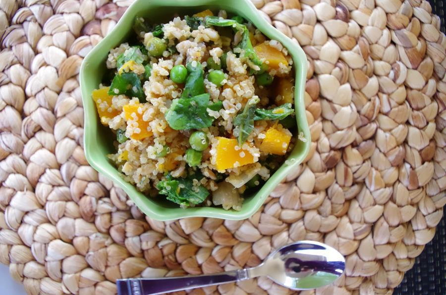 Quinoa + Butternut Squash Bowl - Vegan + Gluten-Free Recipe - FitCakery.com