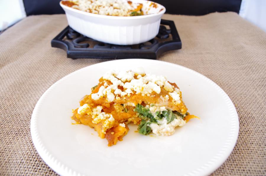 Sweet Potato + Pumpkin Lasagna