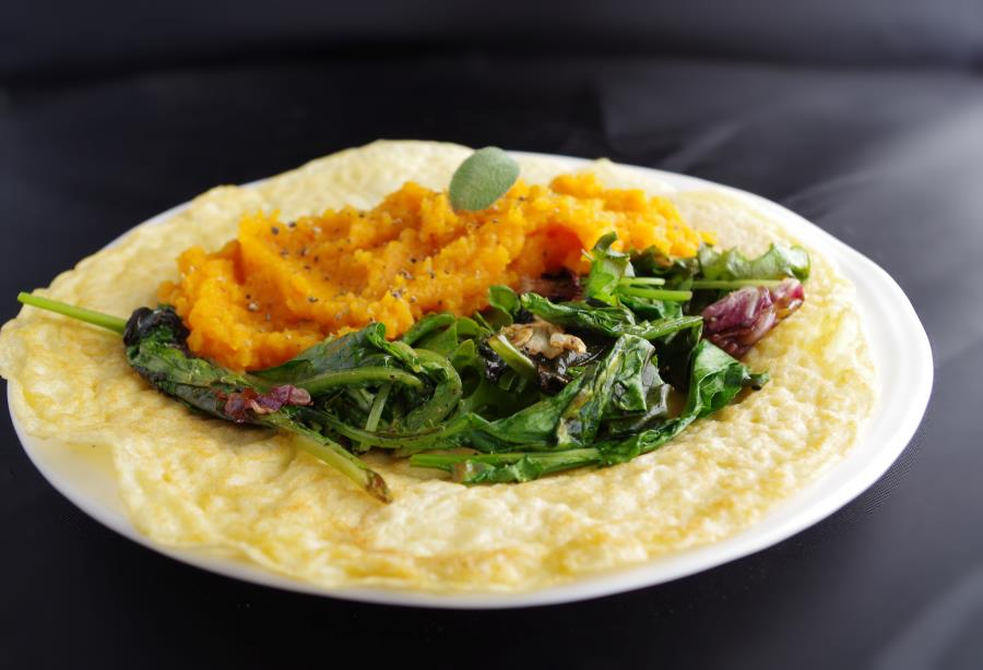 Savory Butternut Crepes