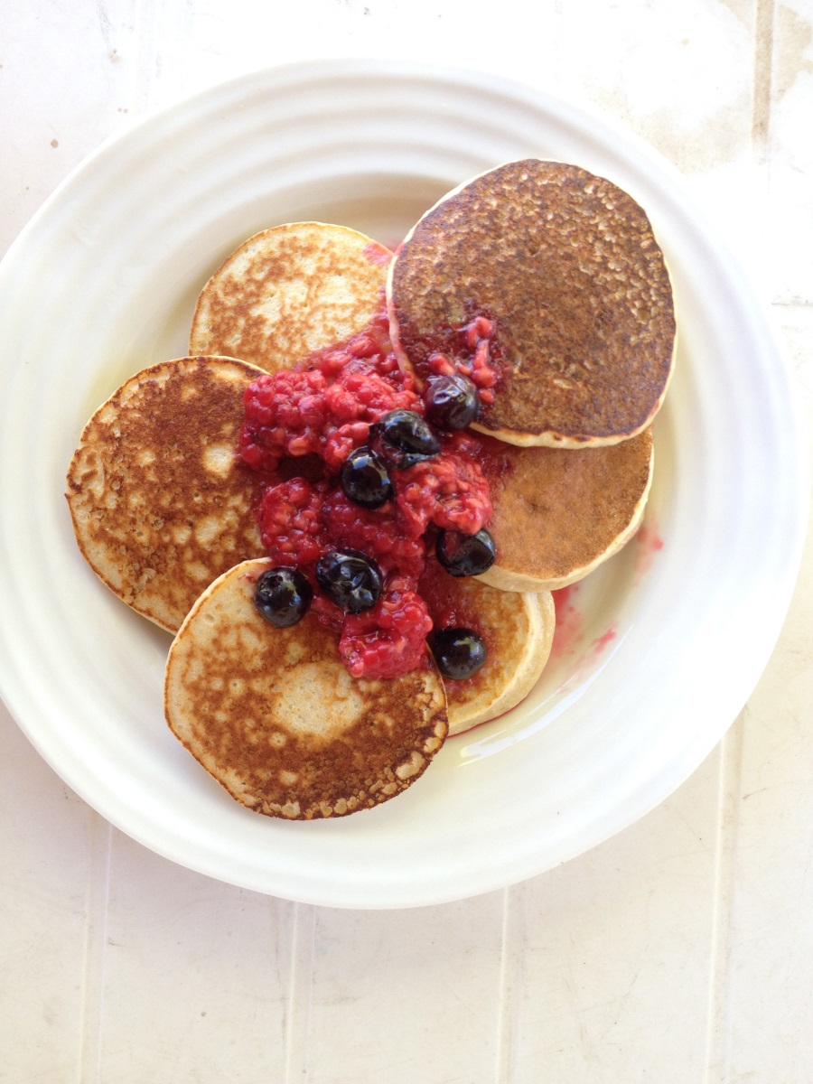 Sweet Potato or Pumpkin Protein Pancakes  (P)