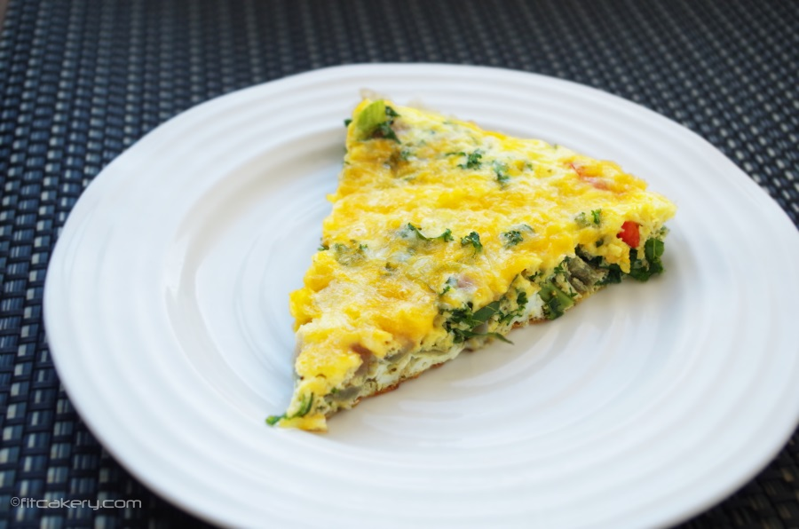 Powered Up Breakfast Frittata - easy to make + nutritious breakfast that you can make ahead for the whole week! #breakfast