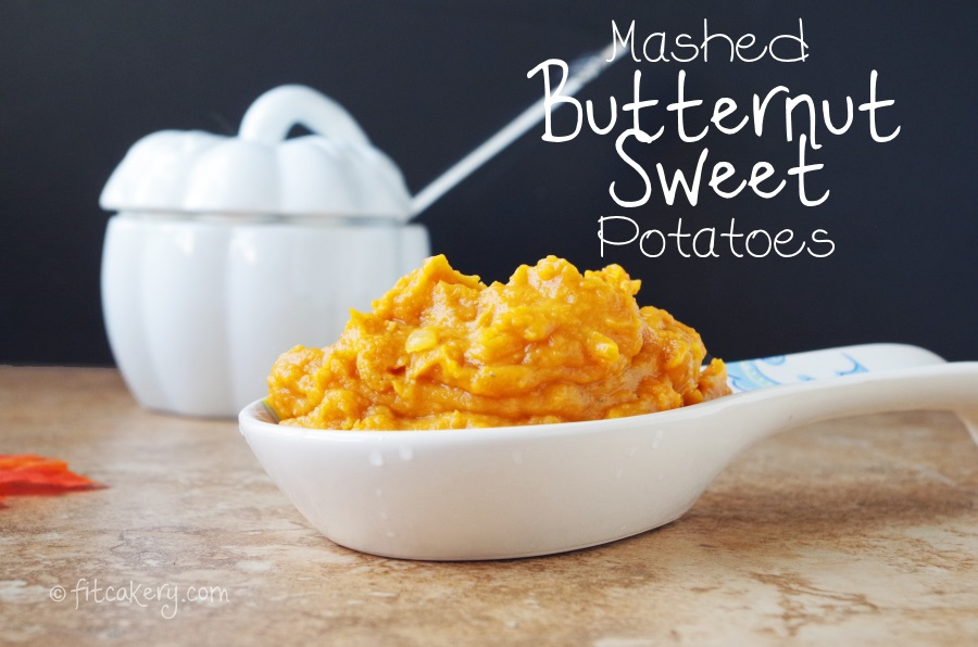 Mashed Butternut Sweet Potatoes = a sweeter, simpler recipe to share with the family this holiday season! #healthyholidays