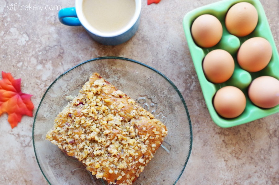 On the holiday baking list: Cranberry Apple Coffee Cake + Walnut Streusel #holidaybaking
