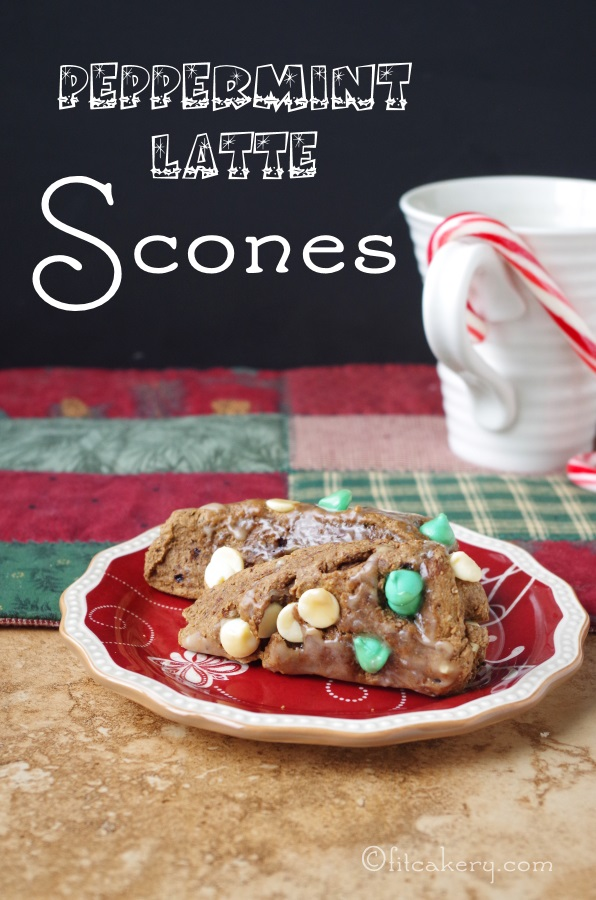Peppermint Latte Scones are the perfect match for a hot coffee or cocoa - plus they're actually GOOD for you! (Shhh, I won't tell!) #healthyholiday