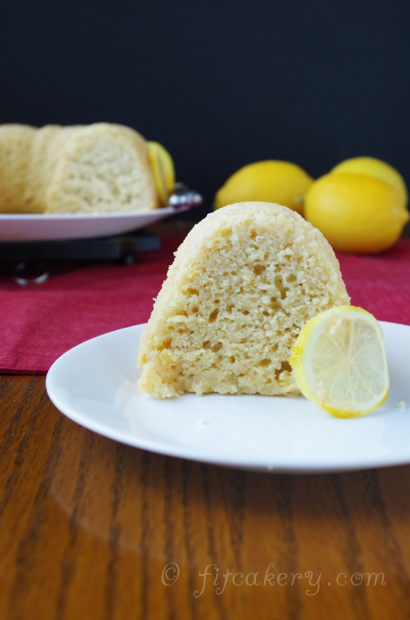 A recipe for Lemon Bundt Cake that is moist, rich, & filled with healthy ingredients! #newyearsresolutions