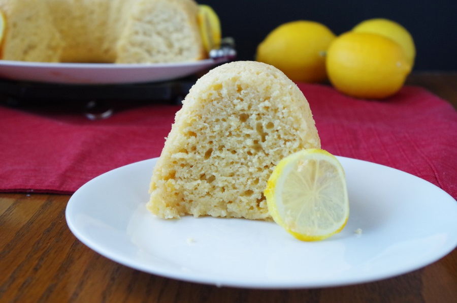 A recipe for Lemon Bundt Cake that is moist, rich, & filled with healthy ingredients! #bakingrecipes