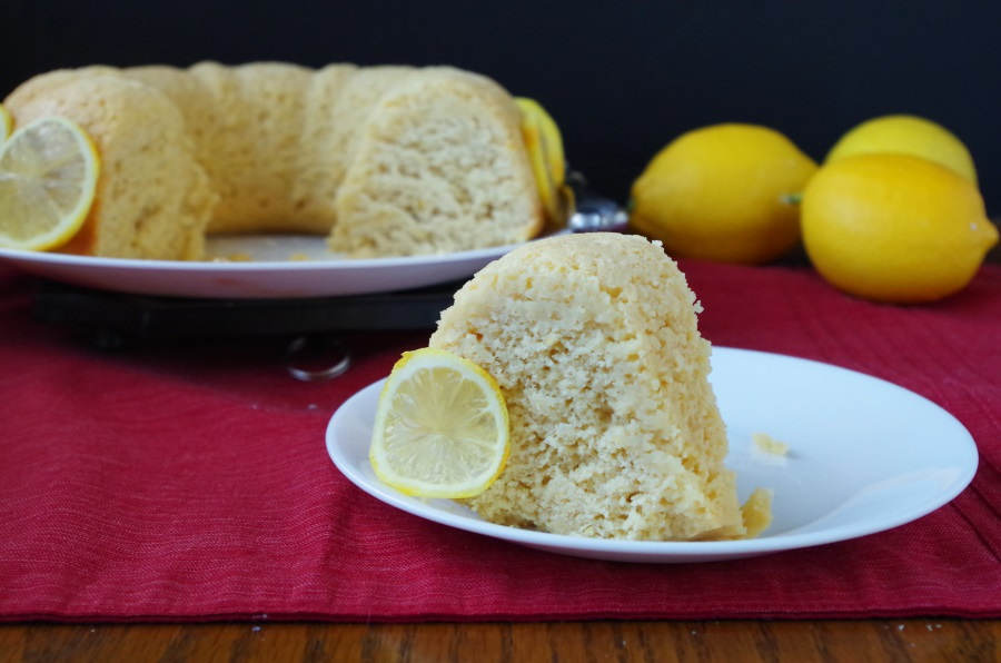 A recipe for Lemon Bundt Cake that is moist, rich, & filled with healthy ingredients! #healthynewyear