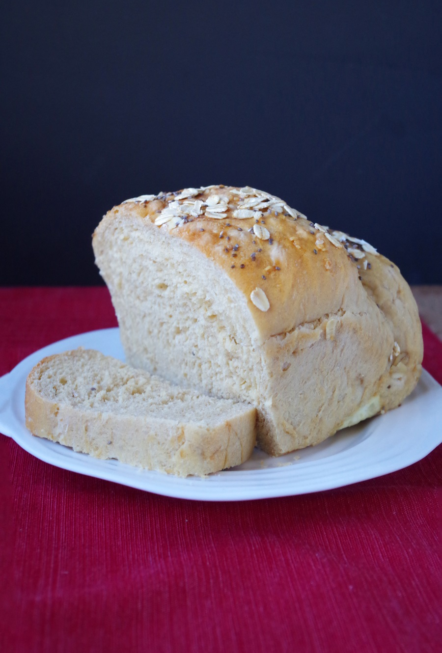 Homemade Whole Wheat Sandwich Bread Recipe - FitCakery.com