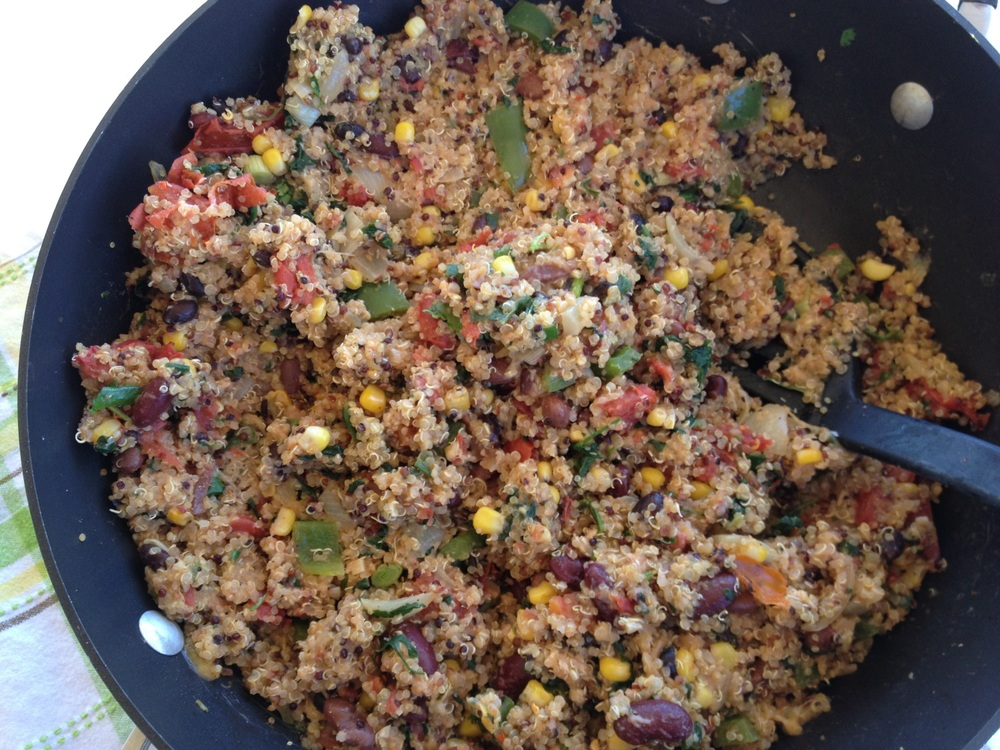 Mexican Quinoa Risotto Recipe - FitCakery.com