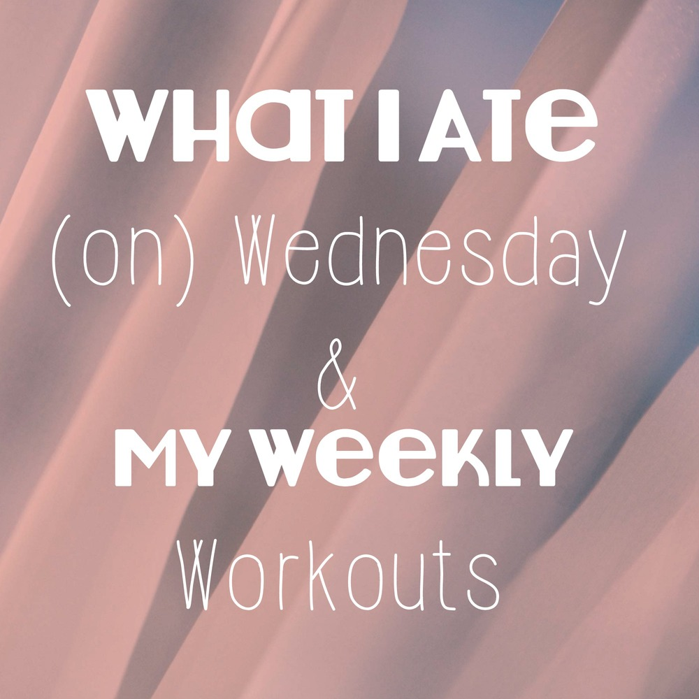 What I Ate on Wednesday and My Weekly Workouts - FitCakery.com