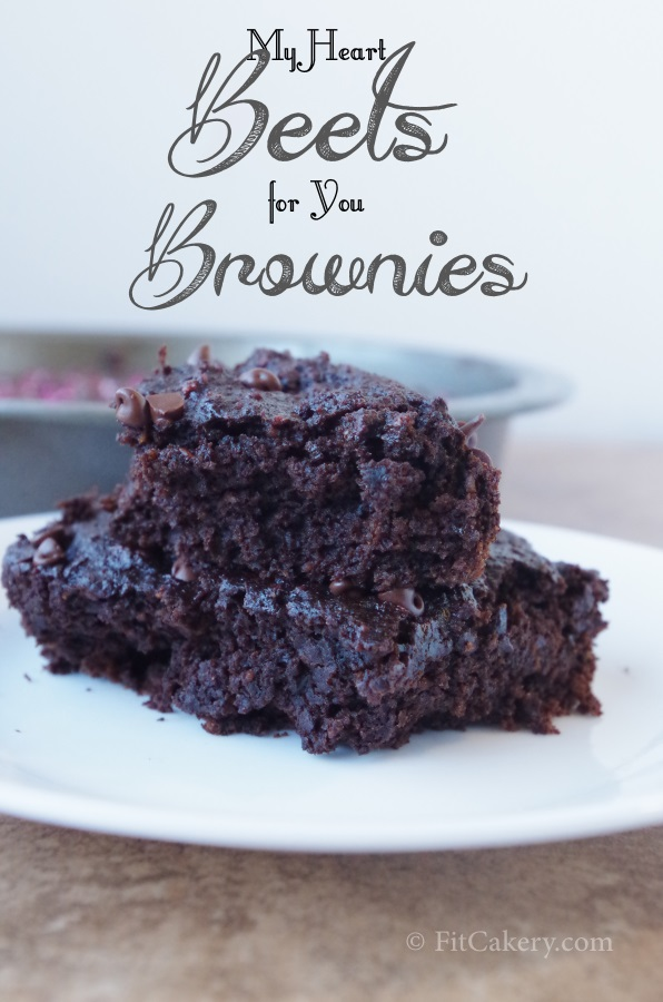 My Heart Beets For You Brownies Recipe - FitCakery.com