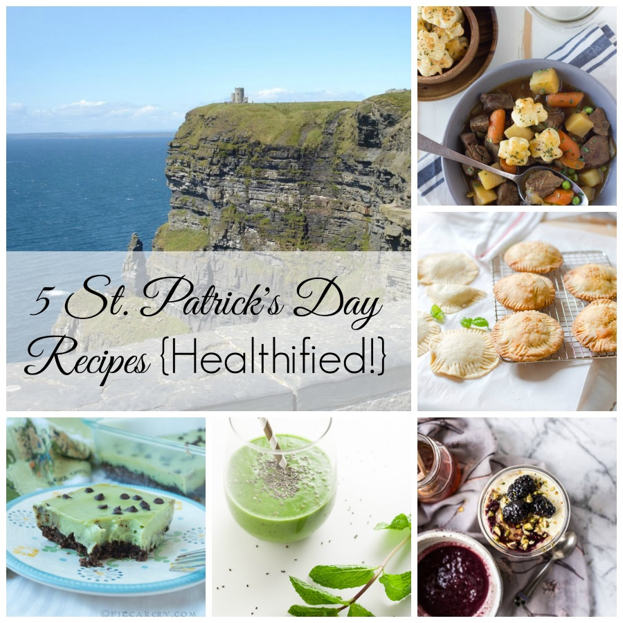 Recipe Roundup of 5 Healthy + Delicious St. Patrick's Day Foods - FitCakery.com
