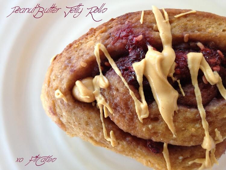 Peanut Butter and Jelly Rolls - a fun twist on classic cinnamon rolls! vegan-friendly - FitCakery.com