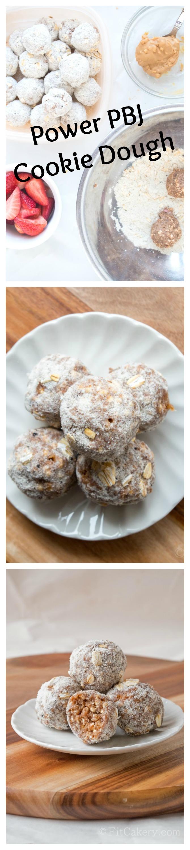 Power PBJ Cookie Dough Bites Recipe (gluten-free, vegan) - FitCakery.com