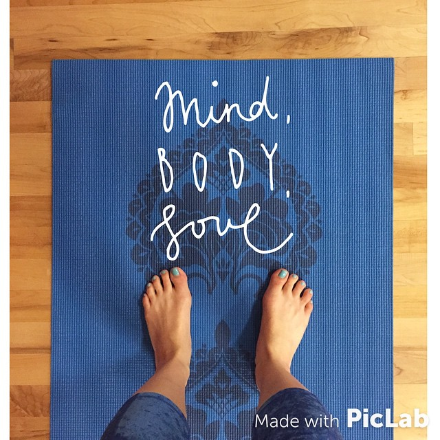 A little yoga (foot) selfie from my instagram @FitCakery!