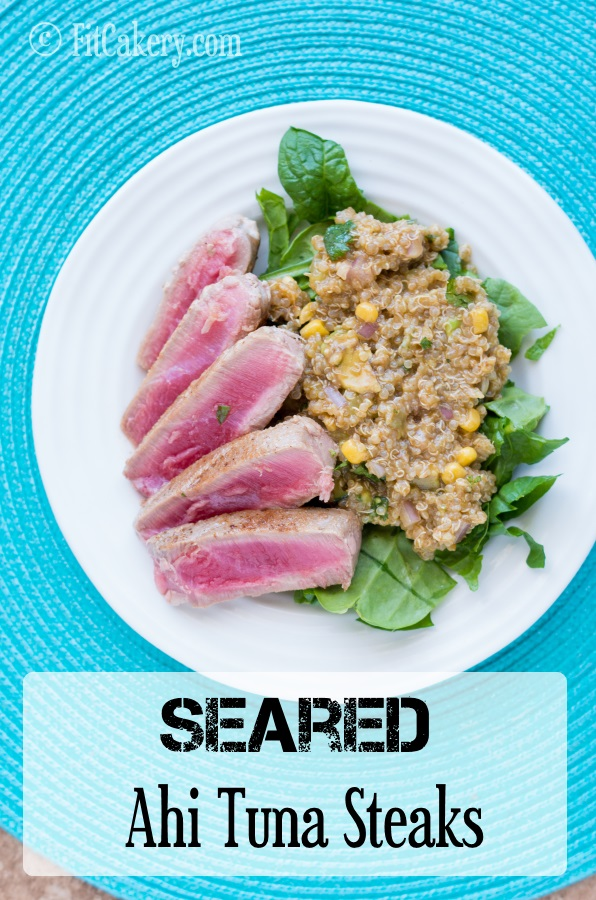 Seared Ahi Tuna Steaks recipe | FitCakery.com