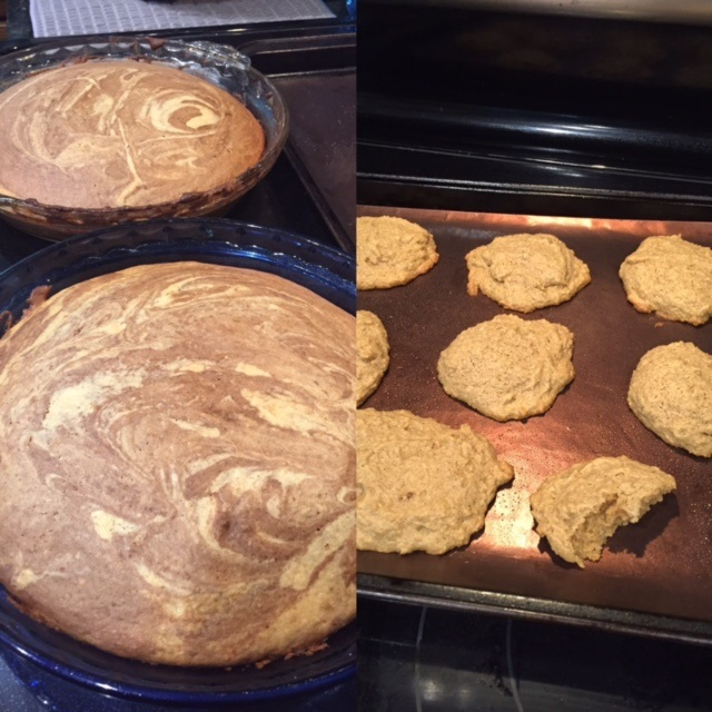 Can you believe that marble cake came out light and fluffy, and those peanut butter cookies are decadent and... completely flourless!?