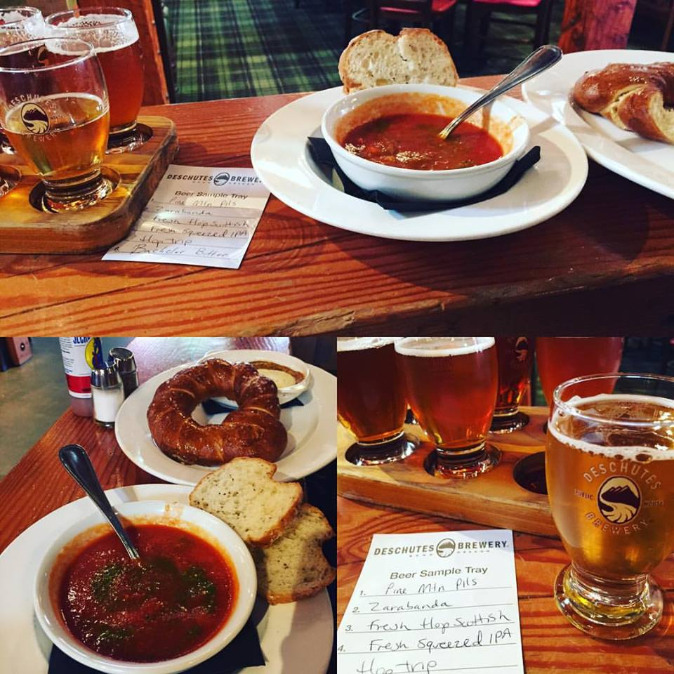 Eats at Deschutes Brewery, Portland