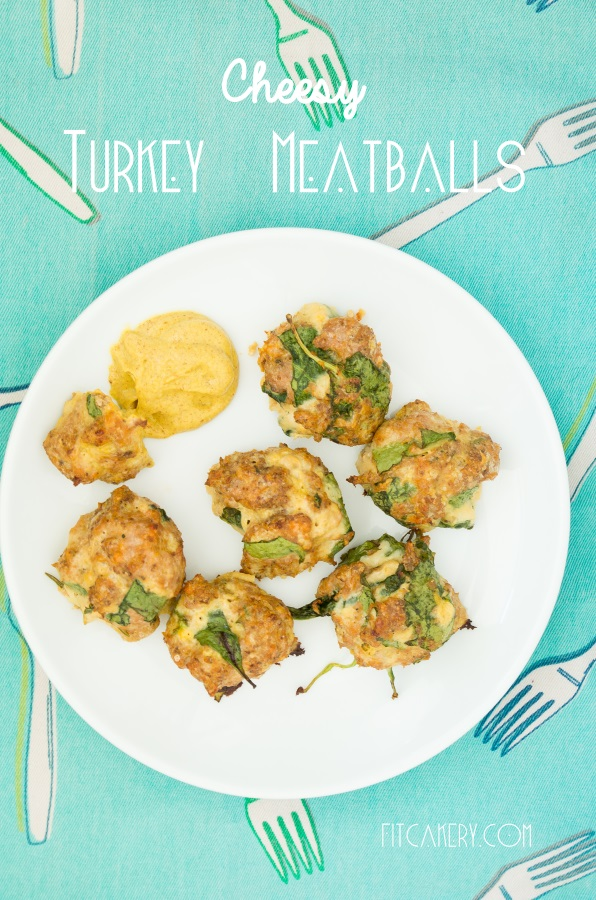 Cheesy Turkey Meatballs {+ Printable Meal Planner} | FitCakery.com