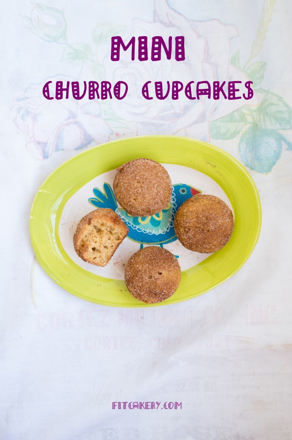 Mini Churro Cupcakes | FitCakery.com