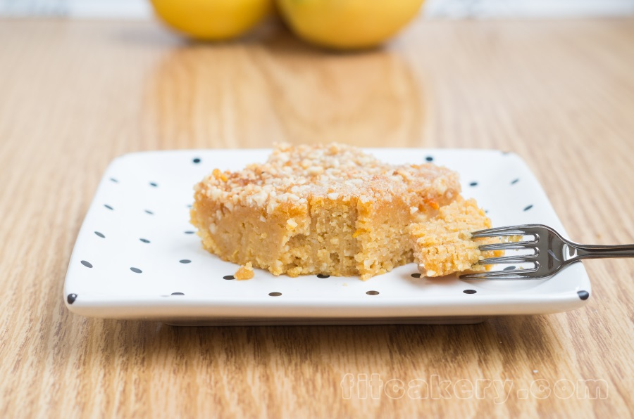 Flourless Lemon-Orange Coffee Cake | Fitcakery.com