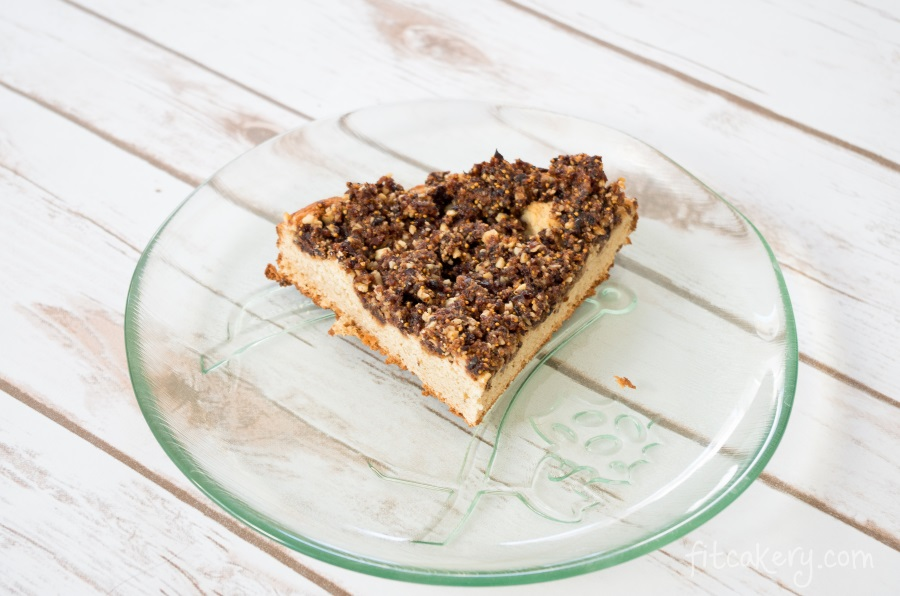 Fig Walnut Coffee Cake | gluten-free, vegan-friendly, high-protein | FitCakery.com
