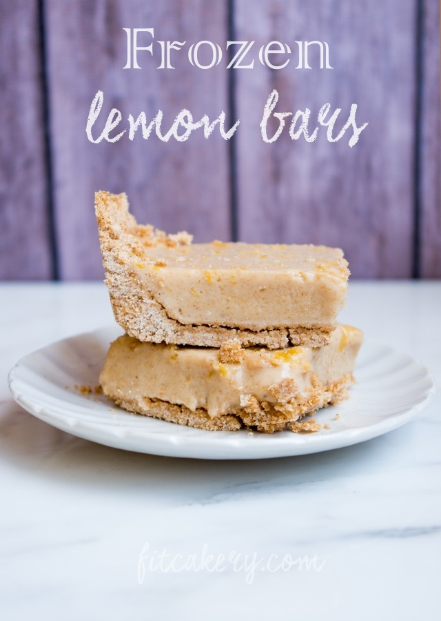 Frozen Lemon Bars | allergy-friendly, gluten-free, vegan | FitCakery.com