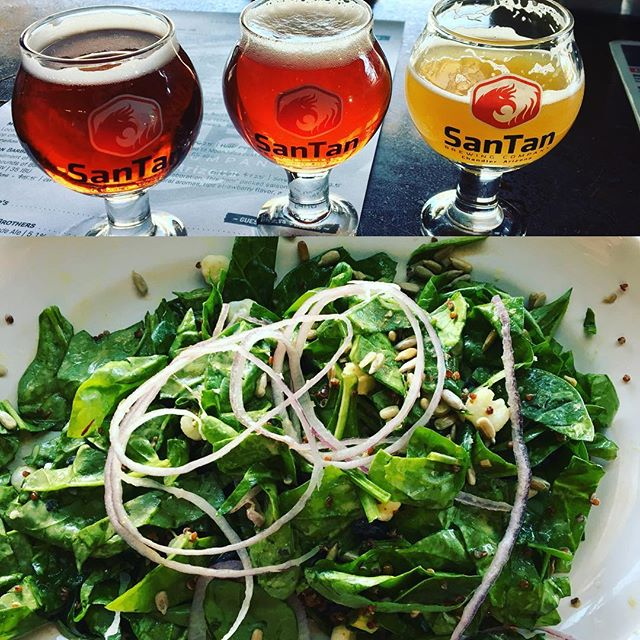 On my way back to Tucson, had to stop in and say hello to my peoples at #SanTanBrewery! Sampled some #epicbeer and had my fave #power salad there! 🍻🥗 It's called #balance.  @santanbrewing #beersnob #saladdays #healthyfood #brewpub #chandler #azbeers #azcraftbeer #drinklocal #eatlocal
