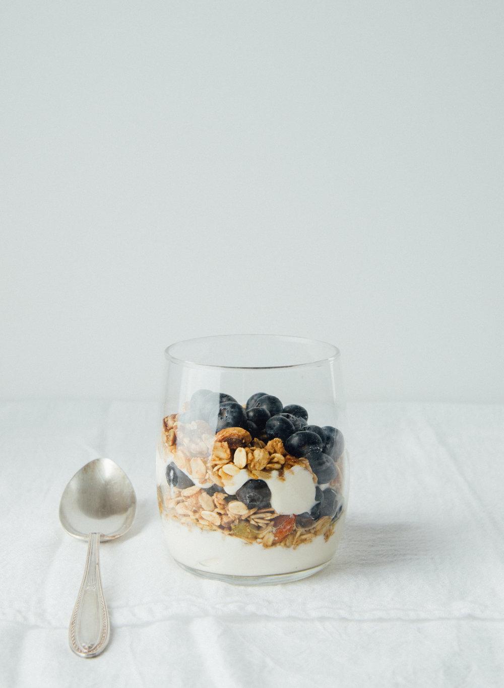 Yogurt, berries and handmade  Go Nuts Granola  from  True North  /Photo:  Melissa DiPalma