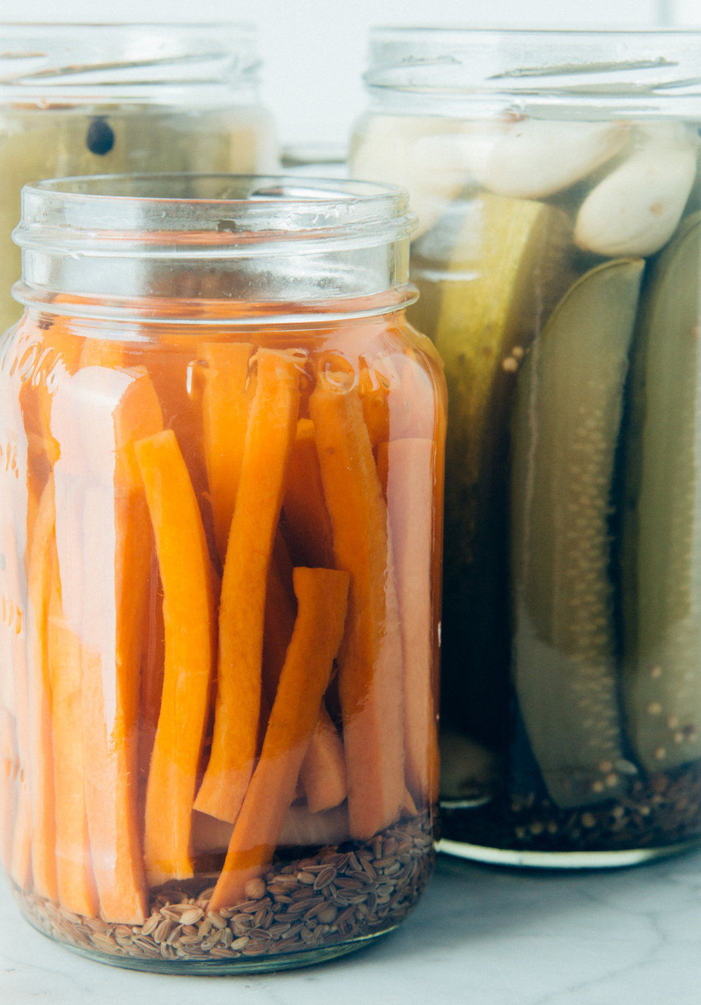 Classic pickled vegetables from local farmers.