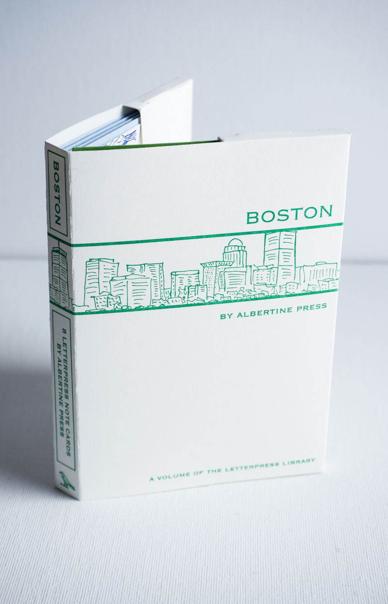 The Letterpress Library collection of note cards.