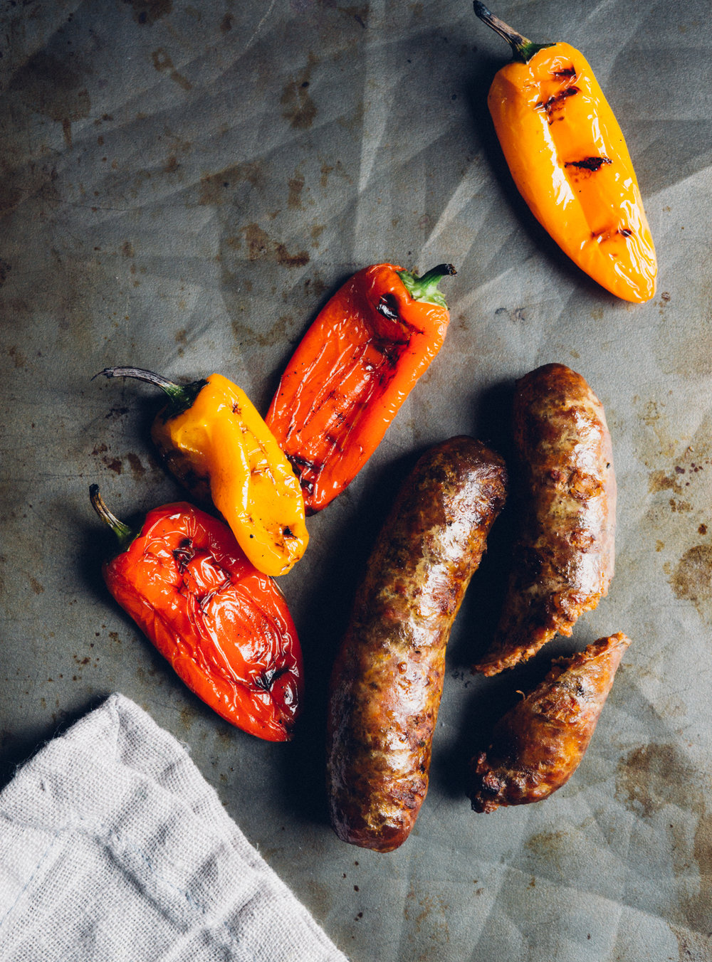 Pork Chorizo - one of 40 types of artisan, handmade sausages made on the farm and available at BPM. Perfect for grilling.