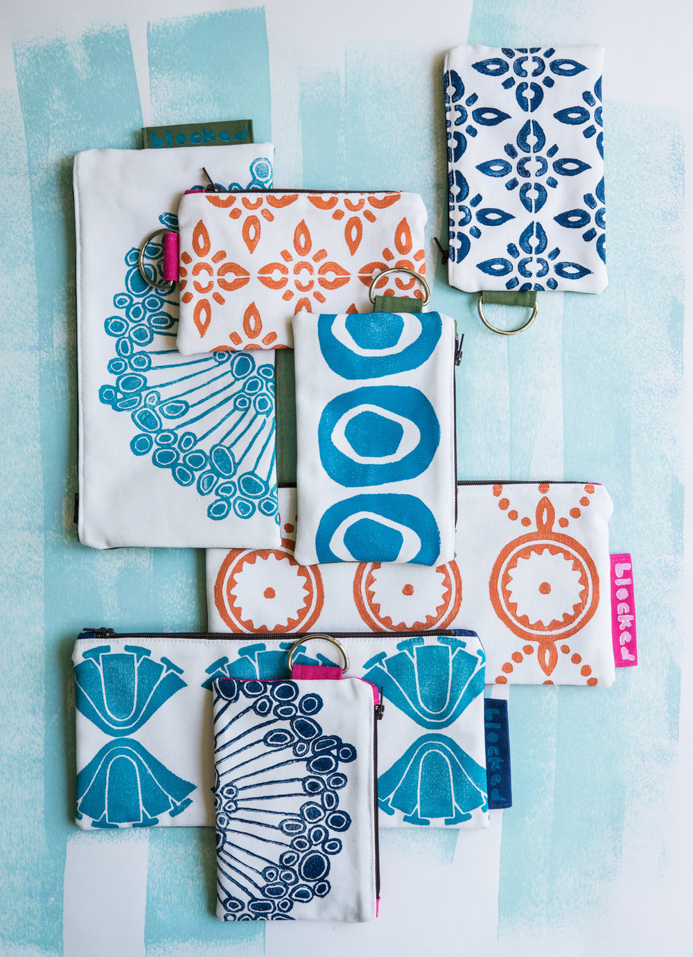 Bright colors and fun designs make Brenna's wallets and purses an everyday pleasure.