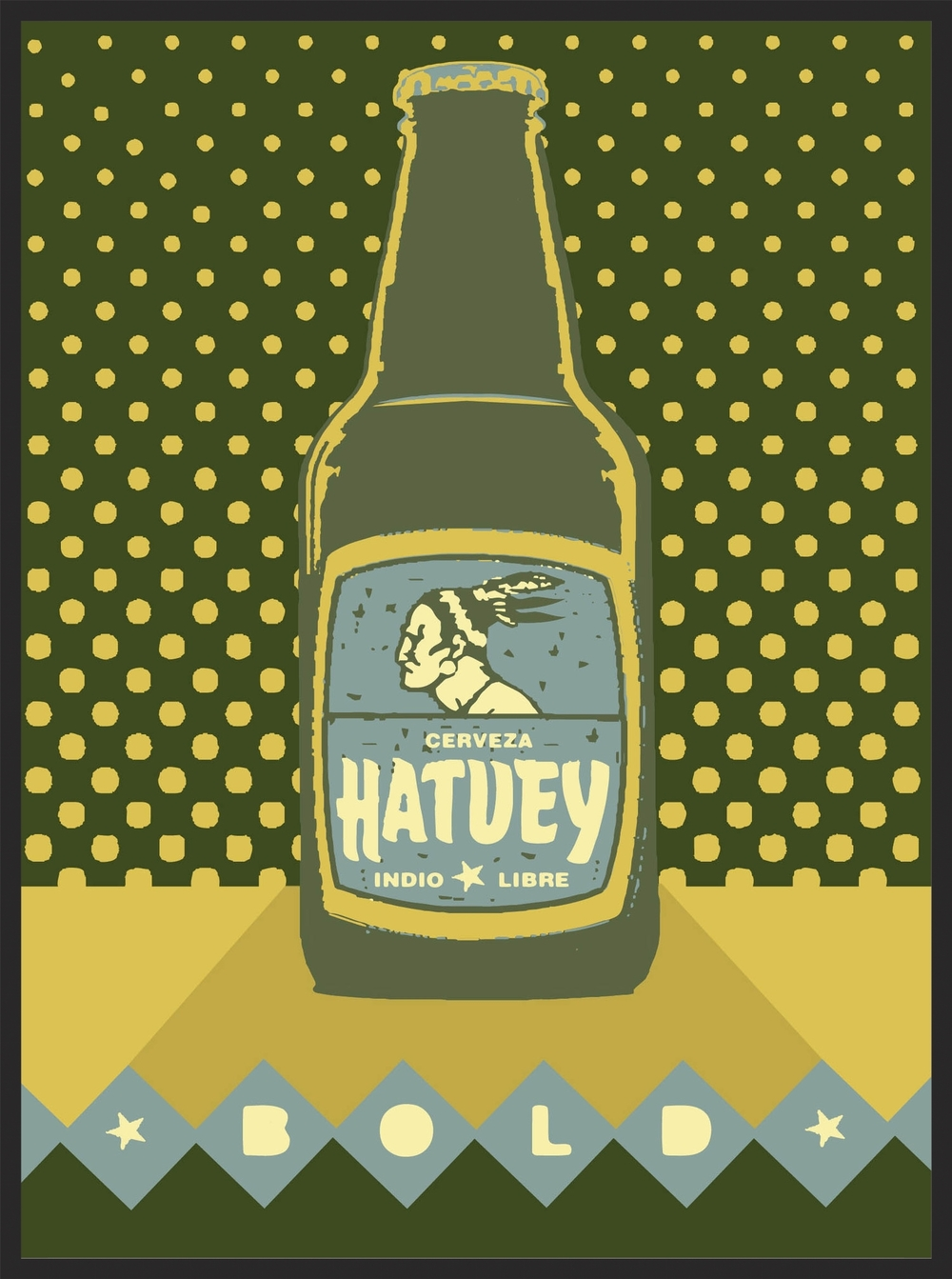 Hatuey Bold  |  Unframed $180  |  Shadow box framed $375  |  archival inkjet print  |  16x20 inch