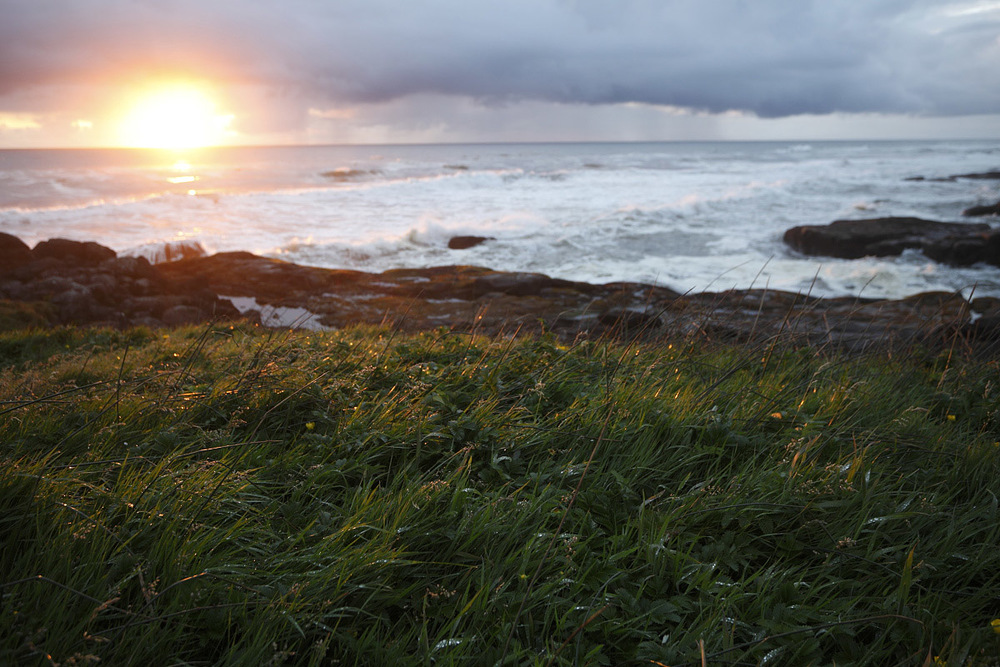 A glimpse of sun in May in Yachats, Oregon.