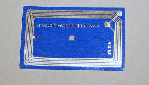 Behold RFID in all it's glory.  photo byJeffrey Beall